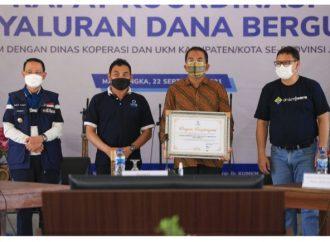 Bupati Karna Hadiri Acara Rakor Penyaluran Dana Bergulir LPDB-KUMKM Se Jabar