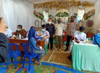 GIMVAK Giat Monitoring TNI-POLRI Pelaksanaan Vaksinasi Absolut di Kecamatan Pameungpeuk