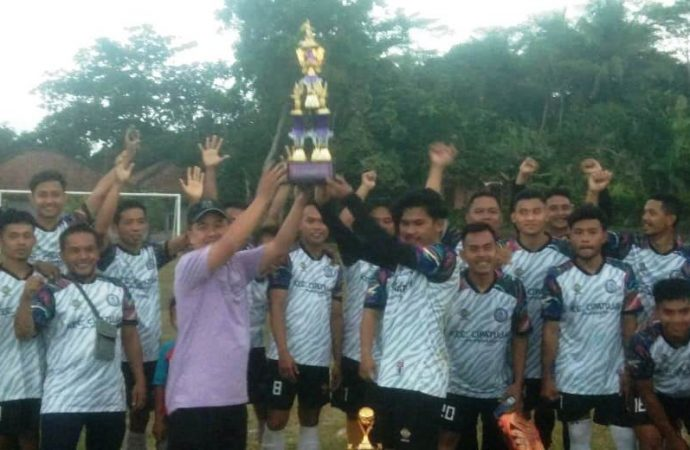 Grand Final Sepak Bola Liga Pantai Selatan Cup 2021 di Kecamatan Cipatujah