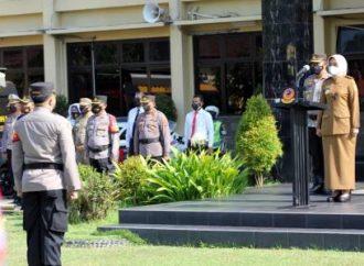 Wabup Cirebon, Ayu Pimpin Upacara Kesiapan Pengamanan Pilwu 2021